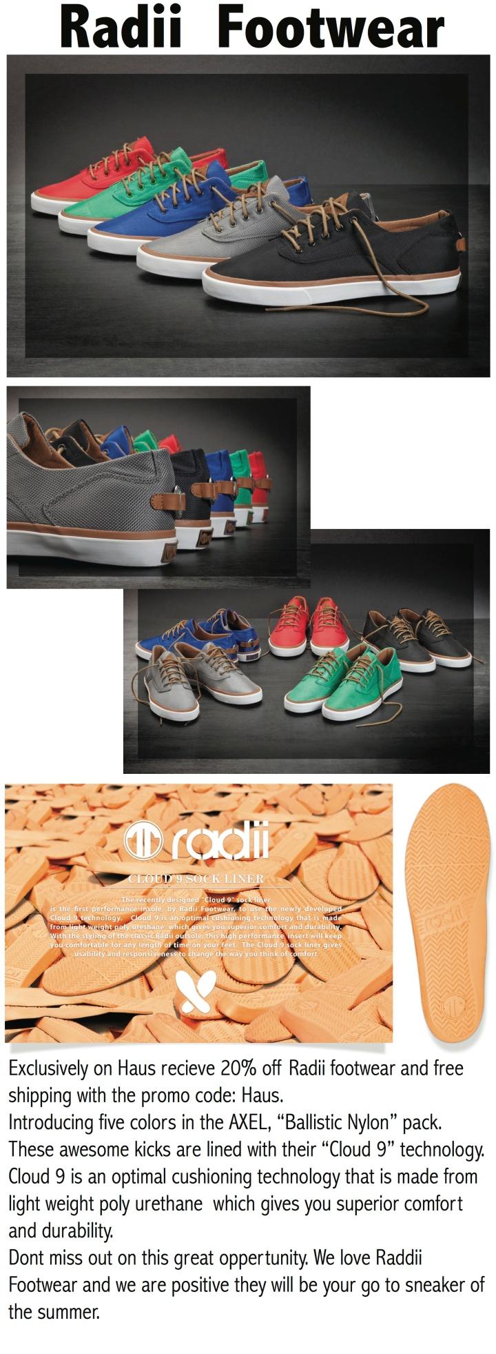 Exclusive Discount On Radii Footwear!