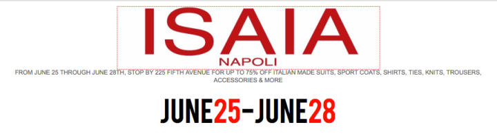 Isaia Napoli Sample Sale : New York City