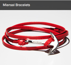 Miansai Bracelets and more on Gilt today!