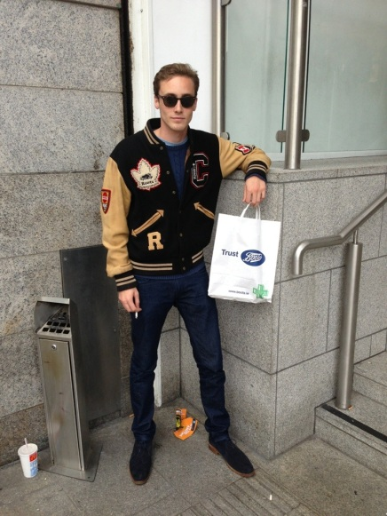 Street Fashion; Varsity Jackets in Dublin