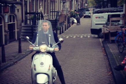Street Fashion; Bikes and Vespas in Amsterdam