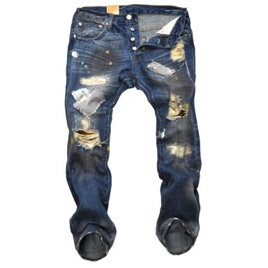 Fashion-personality-jeans-for-men-holes-paint-patch-button-fly-denim-jeans-cool-dirty-jeans-brand